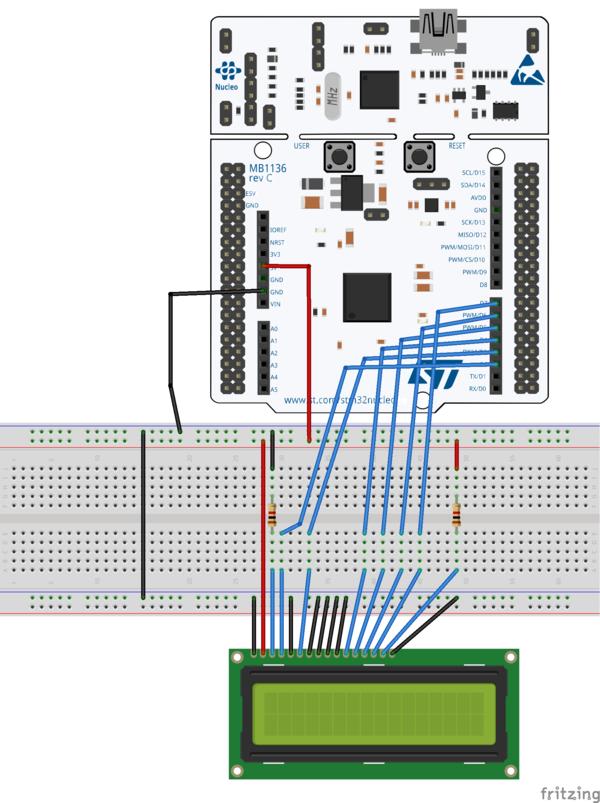 Tutoriel STM32 Nucleo - afficheur LCD — Wiki L A B